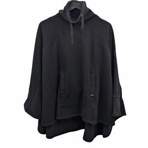 UGG Black Pichot Turtleneck Poncho Size XS/S